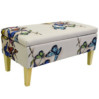 Marvelous Butterfly Storage Ottoman Stool Blanket Box Black Alphanode Cool Chair Designs And Ideas Alphanodeonline
