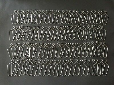 "(100 Pack) 3"" Wire Clip Hanger Pinch Hooks for Drop and Suspended Track Ceiling"