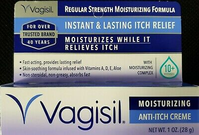Vagisil Instant Itch Relief Regular Strength Cream 1oz Tube -FREE WORLDWIDE SHIP