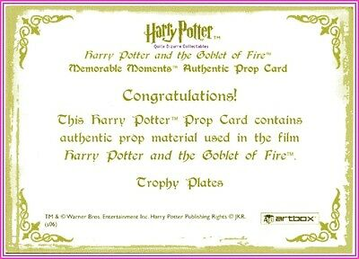 Harry Potter Goblet of Fire SDCC Trophy Card Very Rare San Diego Comic Con