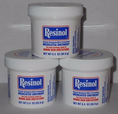 Resinol Medicated Ointment Topical Analgesic 3.3oz -3 Pack