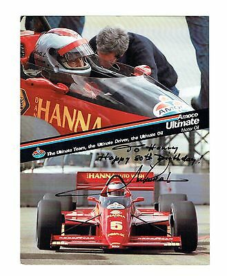 Formula One Driver Mario Andretti Original Autograph On Color Photo!
