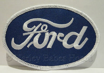 Embroidered Iron Or Sew On Cloth Patch ~ Ford Oval ~