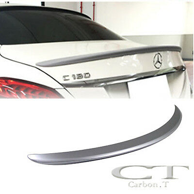 PAINTED For MERCEDES BENZ W205 C-class AMG Rear Trunk Spoiler C63 C300 C350 15up