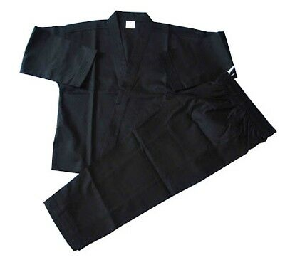 Karate uniform  100% Cotton Black Size 00/120 Best Quality 8 OZ Maytex