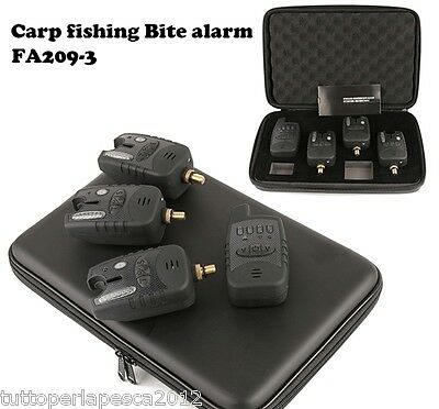 A0414 Set Avvisatori Acustici Carpfishing 3+1 Wireless Carp Fishing Boilies Lake
