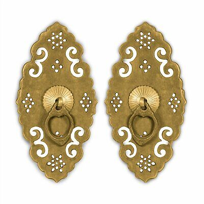 """CBH CABINET Chinese Furniture Brass Hardware Plate 6""""x3"""""""