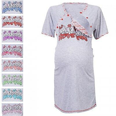 Happy Mama Women's Maternity Hospital Gown Nightie for Labour & Birth. 193p