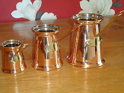 Copper & Brass Measure Ladles Set of 3 A Nice Gift Pub Bar Film Set Prop