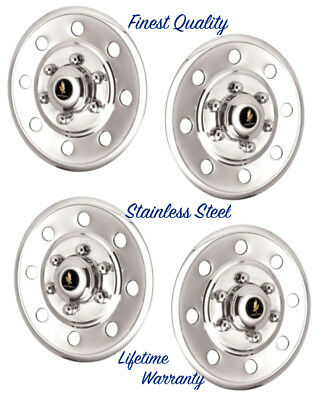 "15"" Stainless Steel Wheel Cover Hub Caps Hubcaps Cars Trucks Trailers Liners ©"