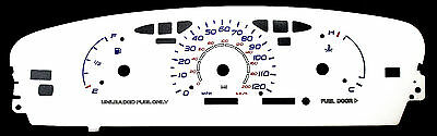 120MPH Reverse Glow Gauge Euro Blue Red White Face For 95-99 Dodge Neon w//o Tach