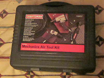 New Craftsman 10 pc. Air Tool Set Impact Wrench Ratchet Air Hammer Hose Kit Case