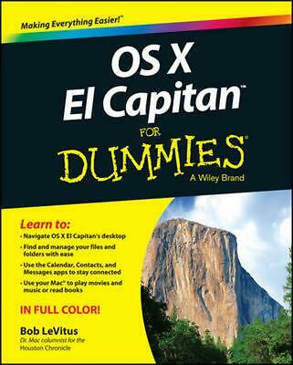 OS X El Capitan for Dummies by Bob LeVitus (English) Paperback Book Free Shippin