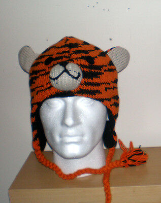 Hand Knitted Kids Woolen Warm Winter Animal Cap From Nepal