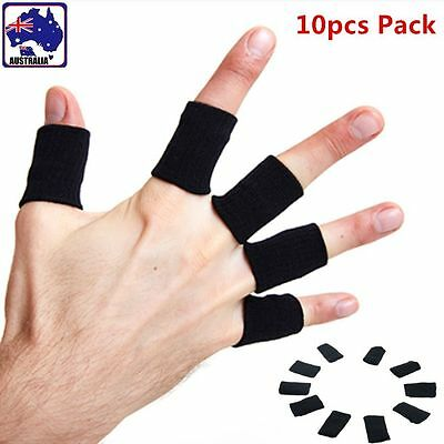 10pcs Sports Basketball Flexible Finger Sleeves Wraps Support Brace OPALM 0510
