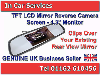 "4.3 ""TFT LCD Display Monitor rearview mirror for camera or DVD Genuine UK Stock"