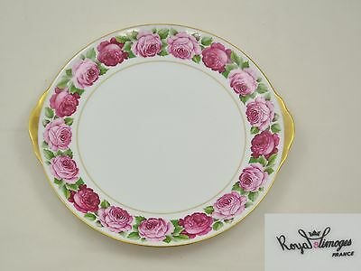 Royal Limoges France - Rose de Paris - grosser Kuchenteller