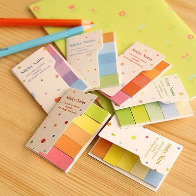 90 Pages Rainbow Sticker Bookmark Point It Marker Memo Post Flags Sticky Notes