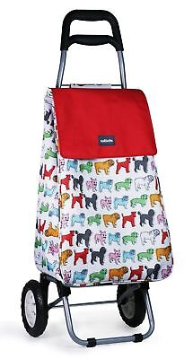 Lightweight Shopping Trolley Travel Luggage Outdoor Insulated Storage Bag Pug