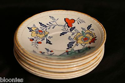 Royal Tudor Delft - Set of 8 Saucer Plates (Barker Bros. Ltd England) VERY RARE