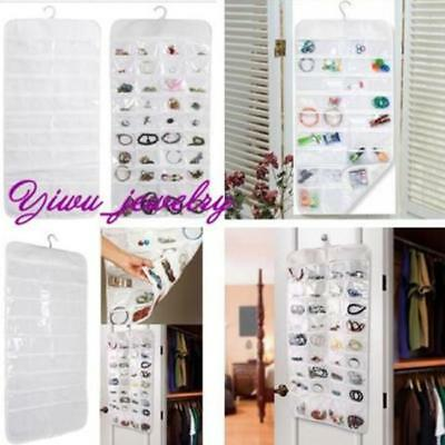 HANGING Jewelry Organizer Bracelet Earring necklace 72 Pocket Pouch