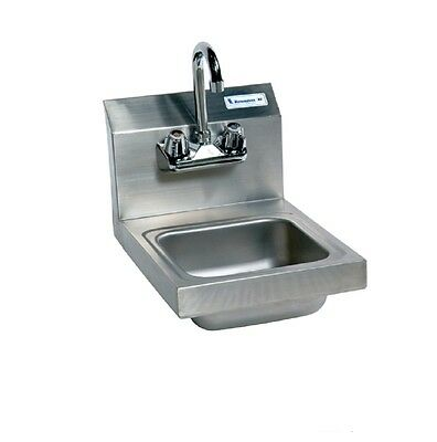 "9"" x 9"" T-304 Stainless Steel Space Saver Hand Sink w/ Faucet BBKHS-W-SS-P-G"