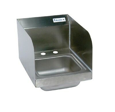 """9"""" x 9"""" Stainless Steel Space Saver Hand Sink w Faucet BBKHS-D-SS-SS-P-G"""