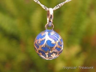 Blue Harmony Ball 12mm + 925 SOLID Silver Chain