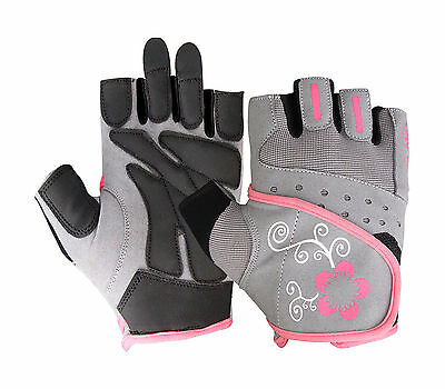 Unisex Men Ladies Fingerless Pink Gloves Cycling Gym Driving Wheel Chair Gloves