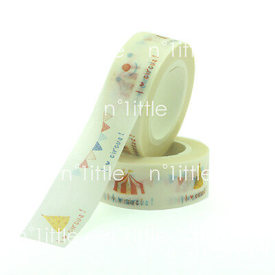 10M Circus Paper Washi Tape Masking Adhesive Roll Decorative Card Craft