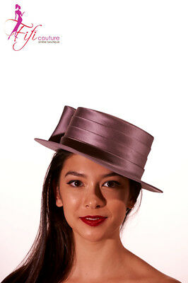 Cupids Millinery Melbourne Satin Hat with Loops - Quality & Fit A030