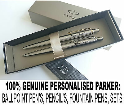 Personalised Engraved Parker Jotter & IM  Ball Pen, Pencil, Pens Set GREAT GIFT