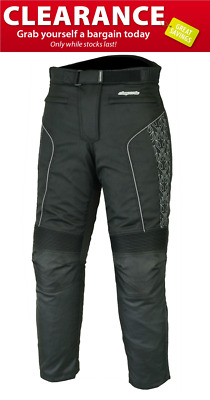 Ladies 2828 Black Protective Motorcycle Trousers RKSPORTS CLEARANCE SALES!!!