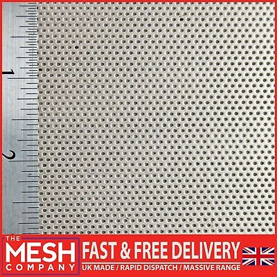 1mm Stainless Steel (1mm Hole x 2mm Pitch x 1mm Thick) Perforated Mesh Sheet