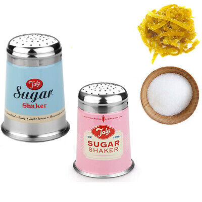 Tala Sugar Pourer Tin Metal Baking Kitchen Measure Canister Restaurant Canister