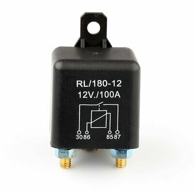 Car Motor Boat Split Charge Relay DC 12V 100A ON/OFF 4 Pin Heavy Duty New