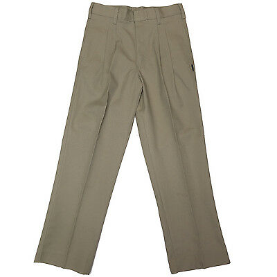 Men's Khaki Pleated Twill Pants (6 Pairs of Size 46)