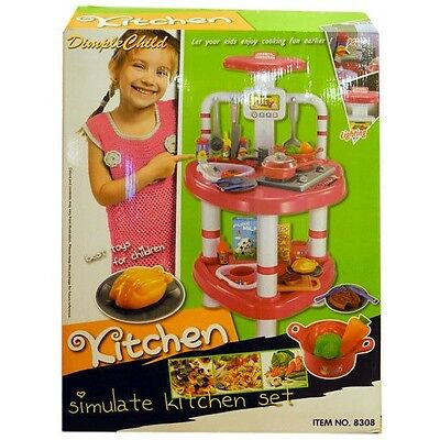 Dimple Deluxe Mini Pink Kitchen Set with Stove  Play Food & Dishes & More DC4827