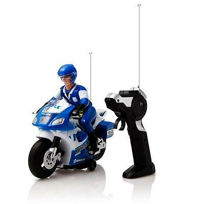 Dimple Radio Control Police Motorcycle w/ Driver  Lights & Sound Effects DC4964