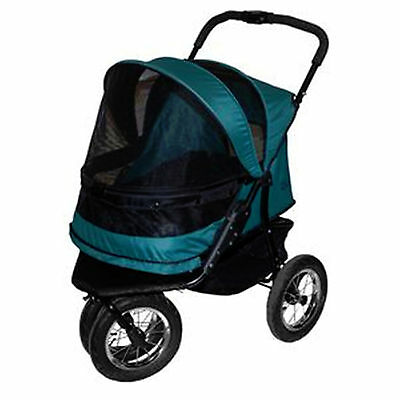 Pet Gear Double Stroller Dog Cat Rabbit No-Zip Pine Green 90 lbs