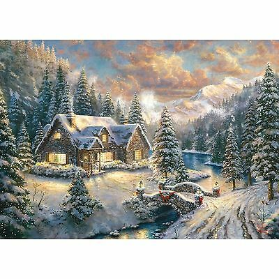 Gibsons High Country Christmas Thomas Kinkade 1000 Piece Jigsaw Puzzle