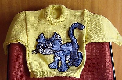 Cat.. Really  Cute  New Hand Knitted Size 2-3
