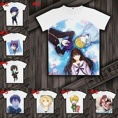 Hot Anime Noragami Unisex T-shirt DIY Short Sleeve Casual Tee Top Clothing M-3XL