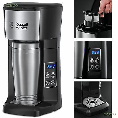 New Russell Hobbs Brew and Go Coffee Machine With Timer & Travel Flask 22630