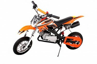 Mini Moto Pocket Rocket Scrambler 49cc-MINI DIRT DEVIL Red GIFT - ORANGE COLOUR