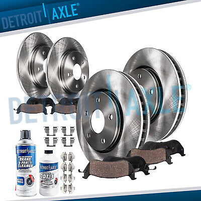 Front & Rear Brake Rotors + Ceramic Pads for 2004 2005 2006 2007 2008 Acura TSX