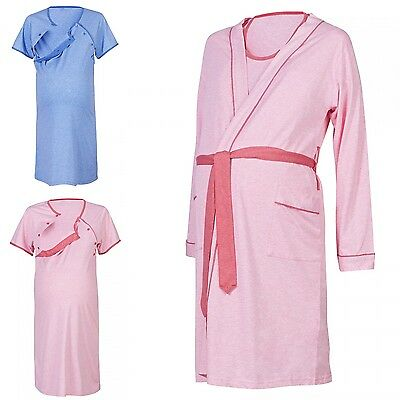 Happy Mama Maternity Gown Robe Nightie for Labour & Birth. SOLD SEPARATELY 552p