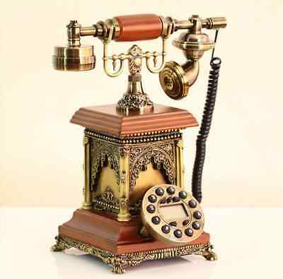 New Retro Vintage Old Antique Style Cord Telephone Phone Quality Home Resin Gift