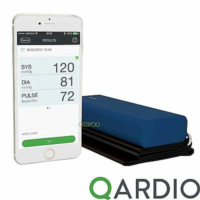 Qardio Arm Wireless Blood Pressure Monitor for iPhone iOS Android, Midnight Blue