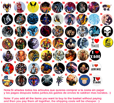 Chapa Button Badge 25mm 38mm 59mm X Men Yaoi Game Over